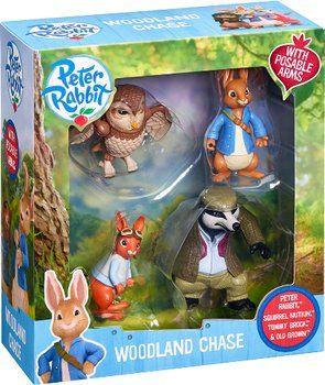Vivid Peter Rabbit Woodland Chase Animal Figure Toy