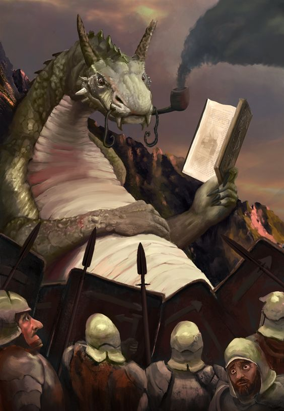 Concept Art Writing Prompt: The Book Wyrm