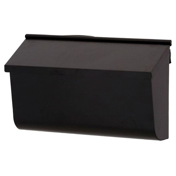$32.05 Gibraltar Mailboxes Woodlands Black Wall-Mount Mailbox-L4010WB0 - The Home Depot