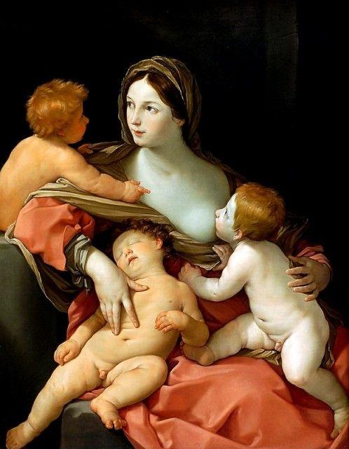 Guido Reni, Charity. ca 1628-29. oil on canvas.