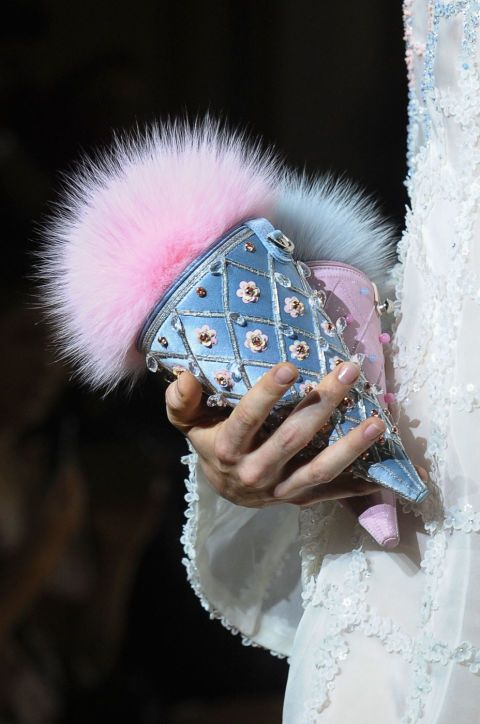 Ulyana Sergeenko Haute Couture fall/winter 2015-2016. See all of the best accessories from the Paris couture runways.