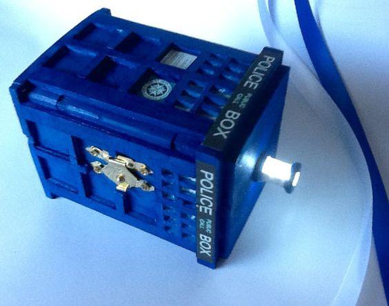 TARDIS Wedding Ring Box With LED Light Handmade Tardis Engagement