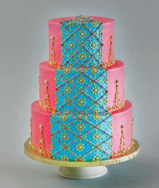 Sari inspired cake by Cakeworks
