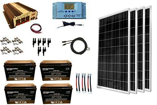 Windynation Complete 400 Watt Solar Panel Kit With 1500 Watt Vertamax Power Inverter Rv Boat Off Grid 12 Volt Solar Panels Best Solar Panels Solar Panel Kits