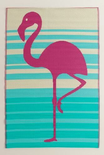 flamingo floor mat