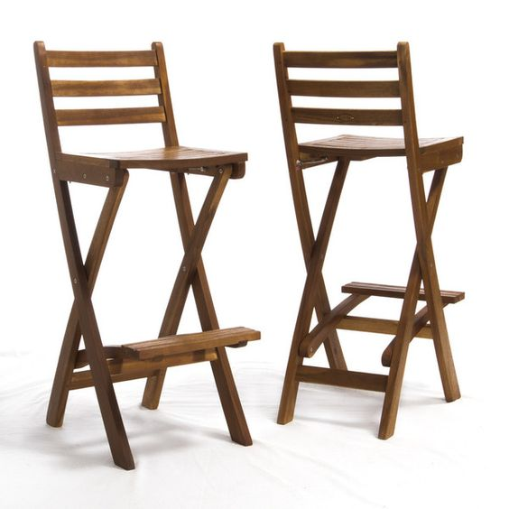Wood Bar Stools Products And Bar On Pinterest