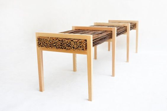 HALUZ (long Bench) / STUDIOVACEK.CZ / 2013 The Bench Is Made Of Ash Solid  Wood U0026 Willow. Specifications : Length: 1680mm / Width: 420mm / Height:u2026