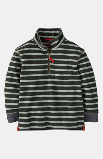 Mini Boden Half Zip Sweatshirt (Little Boys & Big Boys) available at #Nordstrom