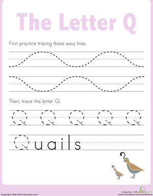 Letter Q Tracing Practice   The o'jays, Kindergarten and Preschool