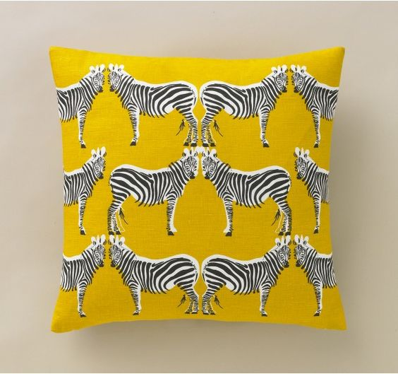 Zebra Citrine Pillow