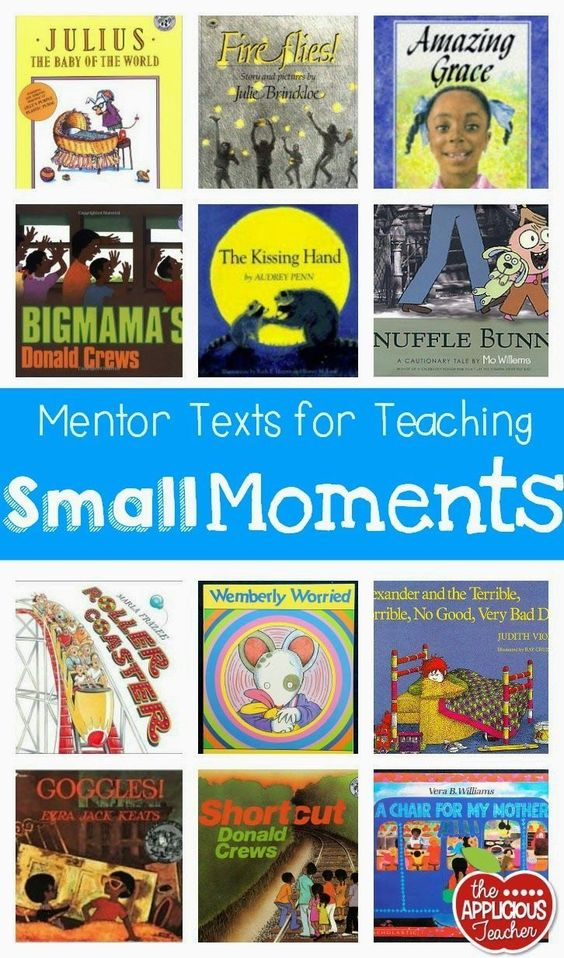 Small Moments for BIG Impact in Writing Workshop  (Mentor Texts)