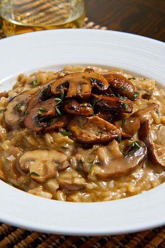mmm mushroom risotto.