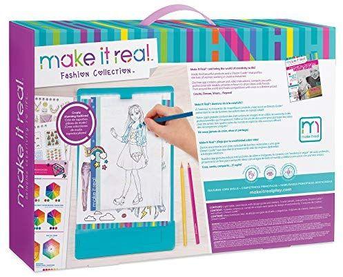Make It Real Fashion Design Mega Set With Light Table Kids Fashion Design Kit Includes Lig In 2020 Sketch Book Design Guide Light Table