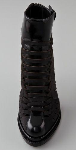 Alexander Wang Andi Woven Platform Booties