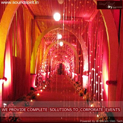 WE PROVIDE CORPORATE EVENTS