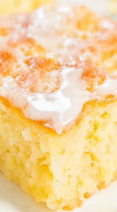 Pineapple Poke Cake with Pineapple Glaze