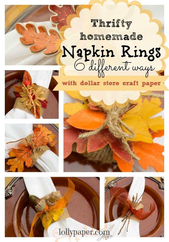 thanksgiving napkin holder craft