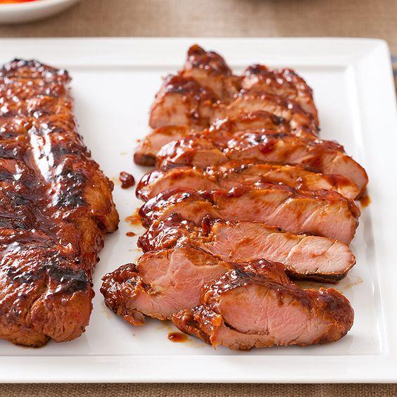 Glazed pork, Pork tenderloins and Pork on Pinterest