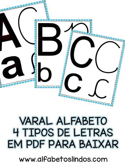 Cartazes Alfabeto De Parede 4 Tipos De Letras Para Baixar Completo