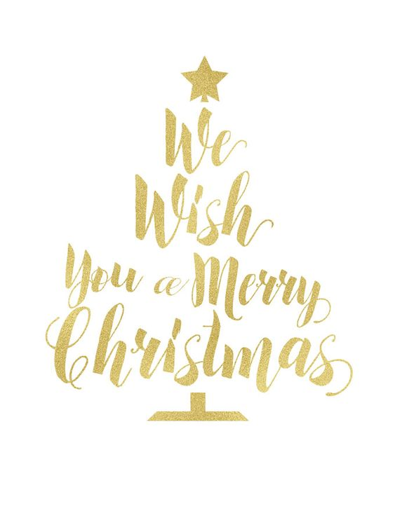 Free gold foil Christmas printables are the perfect way to update your holiday decor inexpensively!: