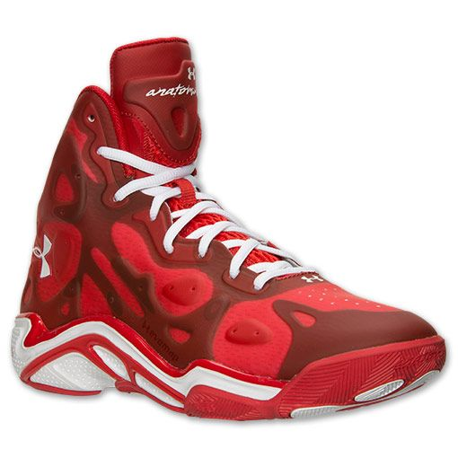 Men\u0027s Under Armour Micro G Anatomix Spawn 2 Basketball Shoes - 1248856 600  | Finish Line | Red/White | Sneakers | Pinterest | Spawn and Armours