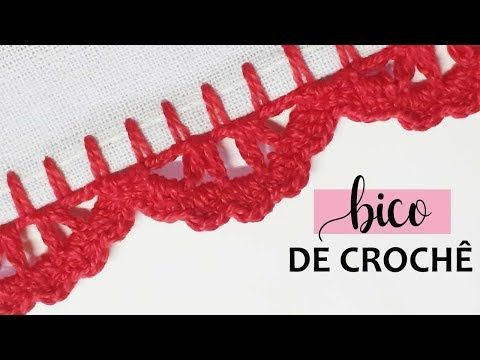 Bico De Croche Facil E Rapido Para Pano De Prato Fralda E Etc
