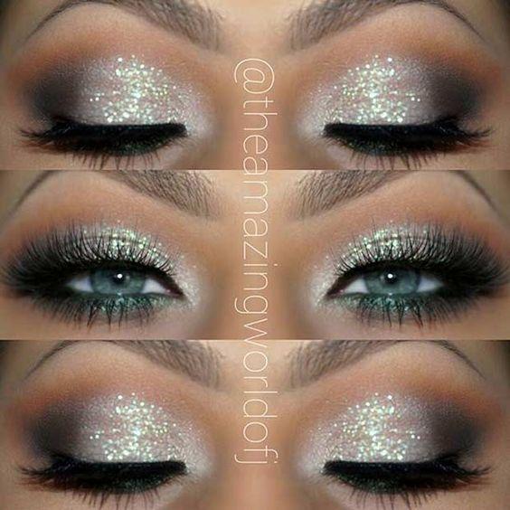 Glittery Eye Makeup Look