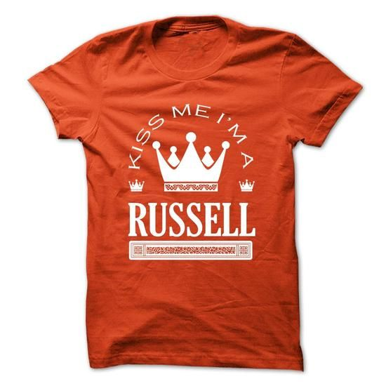 Kiss Me I Am RUSSELL Queen Day 2015 - #gift box #appreciation gift. ACT QUICKLY => https://www.sunfrog.com/Names/Kiss-Me-I-Am-RUSSELL-Queen-Day-2015-versyrtoeg.html?68278