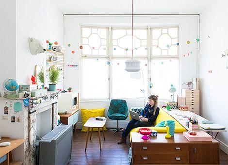 Kleurrijk appartement