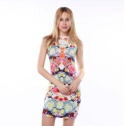 Damen-Kleid mit Blumenprint