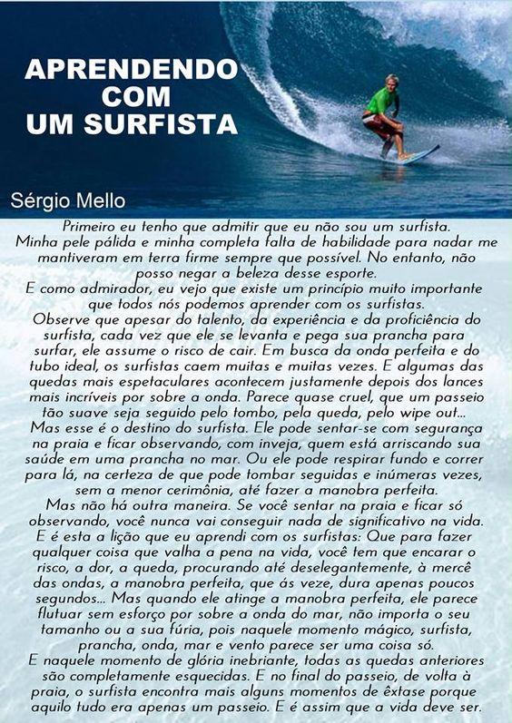 APRENDENDO COM UM SURFISTA