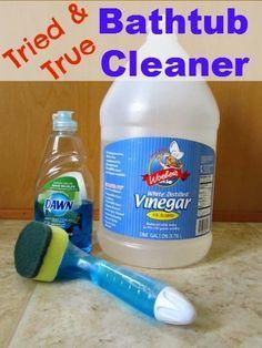 This Simple Home: Bathtub Cleaner {Dawn and Vinegar SUCCESS}