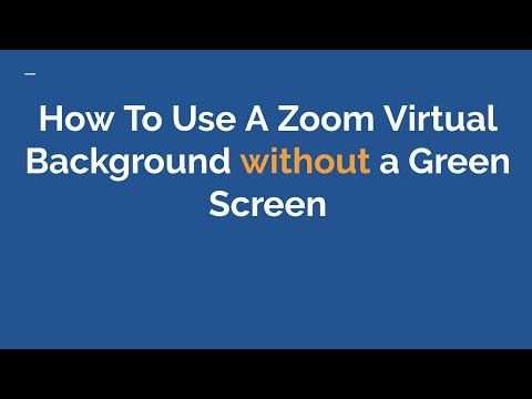 How To Use A Zoom Virtual Background Without A Green Screen Youtube Greenscreen Virtual Classroom Technology