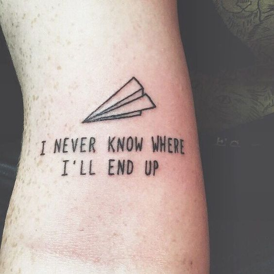 15 Promising Inspirational Tattoos  I love this simple and fun text as a tattoo. The little image makes the font more whimsical.