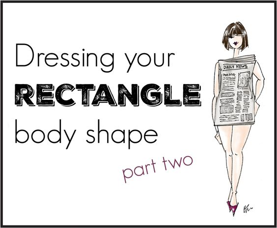 a detailed guide on how to dress a rectangle body shape or a H shape body: