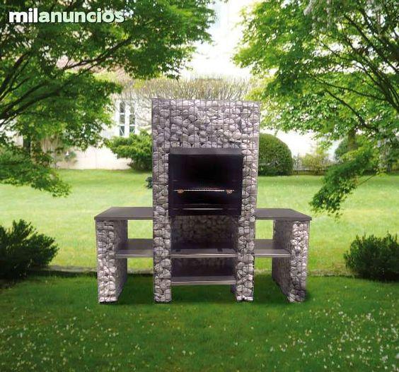 Gavion barbacoa rellenable con piedra natural decorativa for Precios de piedra decorativa para interiores