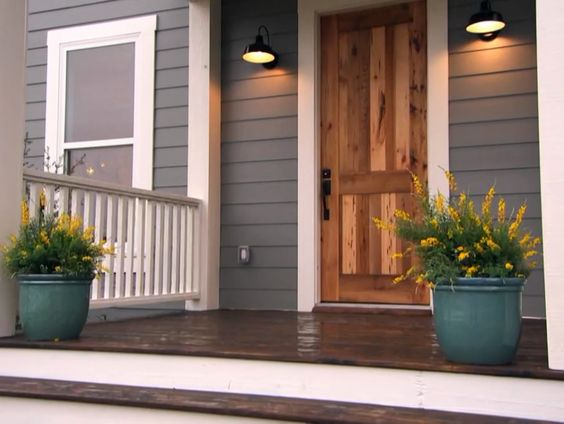 Colors For House Gray House White Rock And Some Trim Cedar Trim Around Windows And Cedar