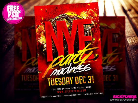 Free New Yearu0027s Eve Flyer Template PSD by Industrykidzdeviantart - free new years eve flyer template