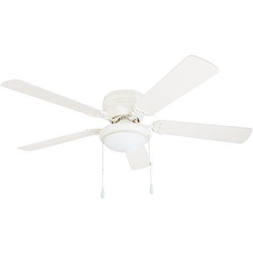 Portage Bay 50254 Hugger 52 White Ceiling Fan 50 Ceiling Fan Hugger Ceiling Fan Ceiling Fan With Light