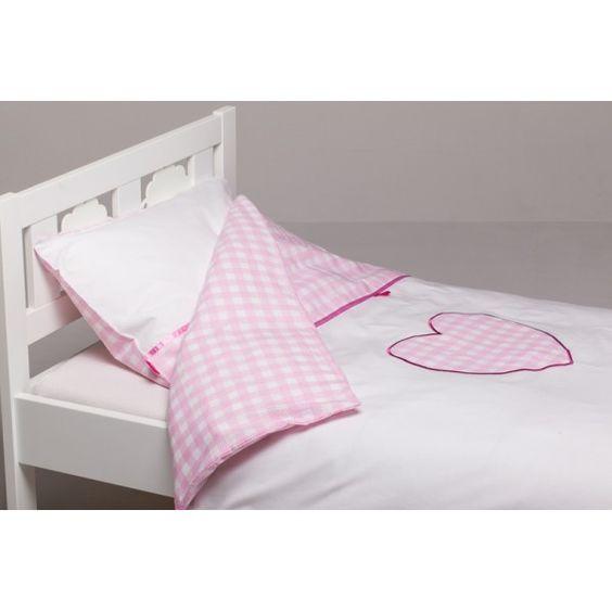 delizioso copripiumino di colore bianco e rosa decorato con un ... - Copripiumino Bianco E Rosa