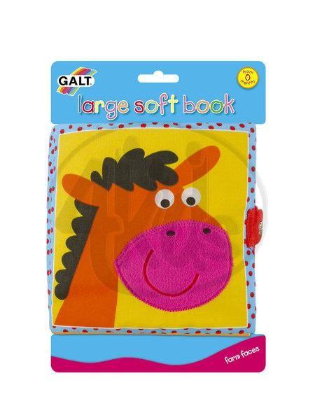 GALT GA1003730 - Velká dětská knížka – hlavy zvířátek | Látkové knížky | 4kids