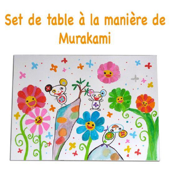 Peindre un set de table et partir à la découverte de Murakami et de son unive -> Repeindre Table