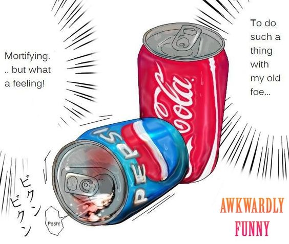 Lawl.. you will love this! Coke and Pepsi