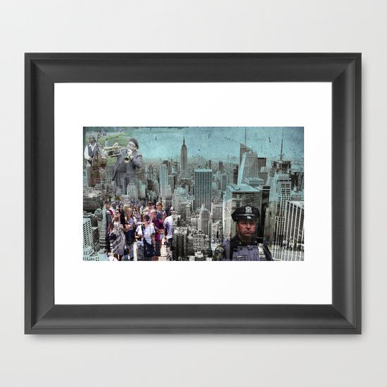 #Manhattan Framed #Art Print