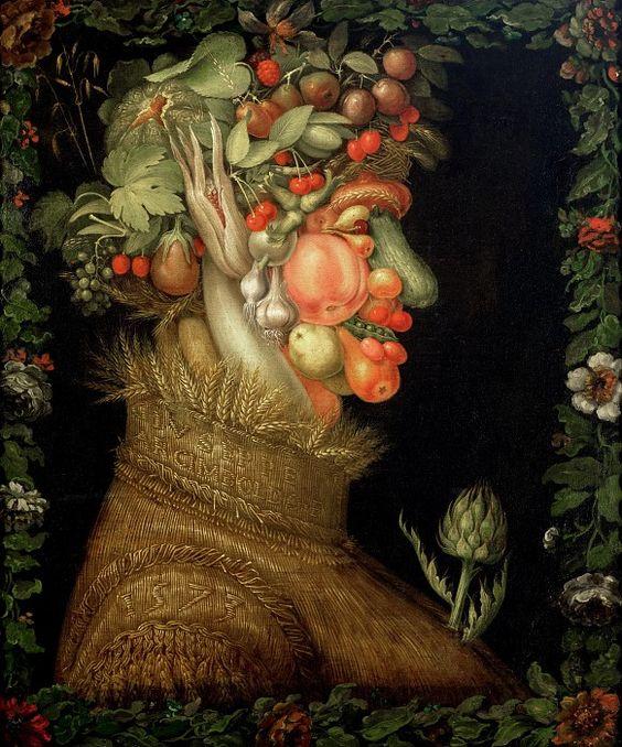 Арчимбольдо, Джузеппе (Милан 1527-1593)  --  Лето. часть 6 Лувр