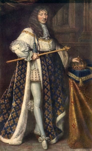 Image:: Louis XIV in coronation robes, by Pierre Mignard   