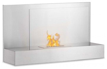 Ater SS Wall Mounted Ventless Ethanol Fireplace modern-fireplaces