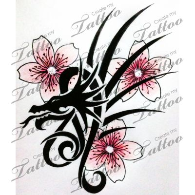 Capricorn and leo signs entwined together custom tattoo for Flowers for aries woman