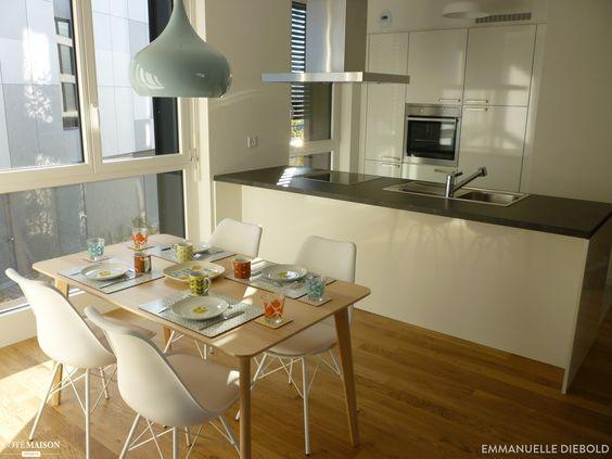 Une cuisine au style n o vintage scandinave pour meubler un appartement t moi - Meubler un appartement ...
