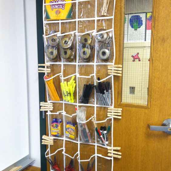 Solution to missing classroom supplies! Students use clothespins to checkout a needed item. Why didn't I think of this before!?